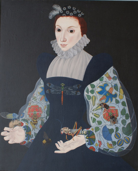 Lady with Insects